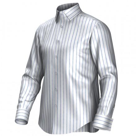Chemise blanc/bleu 54273