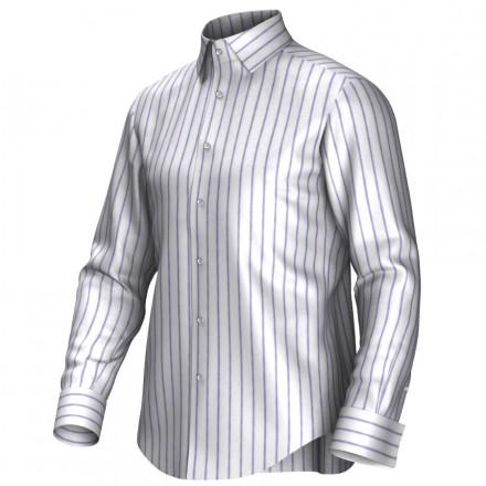 Chemise blanc/pourpre 54274